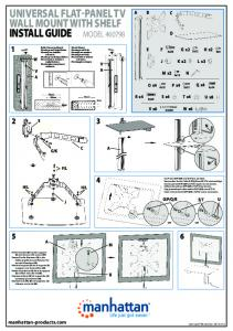 universal flat-panel tv wall mount with shelf install guide