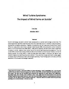 Wind Turbine Syndrome: The Impact of Wind Farms on