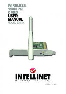 wireless 150n pci card user manual - Geizhals Static Content