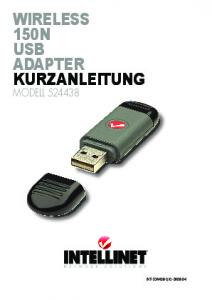 wireless 150n usb adapter kurzanleitung - Intellinet Network