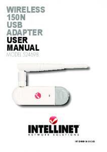 wireless 150n usb adapter user manual - Intellinet Network