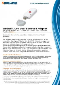 Wireless 300N Dual-Band USB Adapter