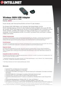Wireless 300N USB Adapter - Intellinet Network