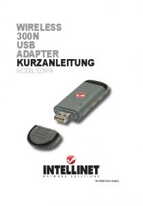wireless 300n usb adapter kurzanleitung - Intellinet Network