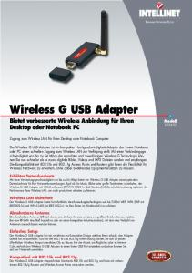 Wireless G USB Adapter - Intellinet Network