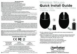 Wireless Mouse Quick Install Guide - Manhattan Products