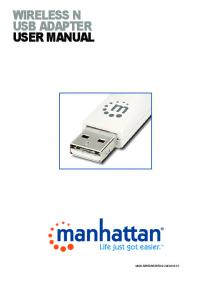 wireless n usb adapter user manual - Manhattan Products
