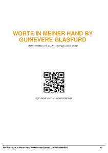 worte in meiner hand by guinevere glasfurd -86pdf ...  AWS