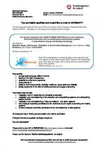 You are highly qualified and would like to work in ... - Regione Calabria